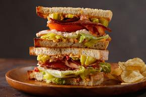 Deli stack sandwich