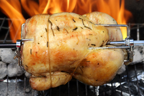 Rotisserie roasted chicken