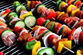 Shish Kababs ready to grill